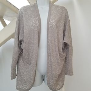 Miss Selfridge Taupe Lightweight Open Cardigan Sz8
